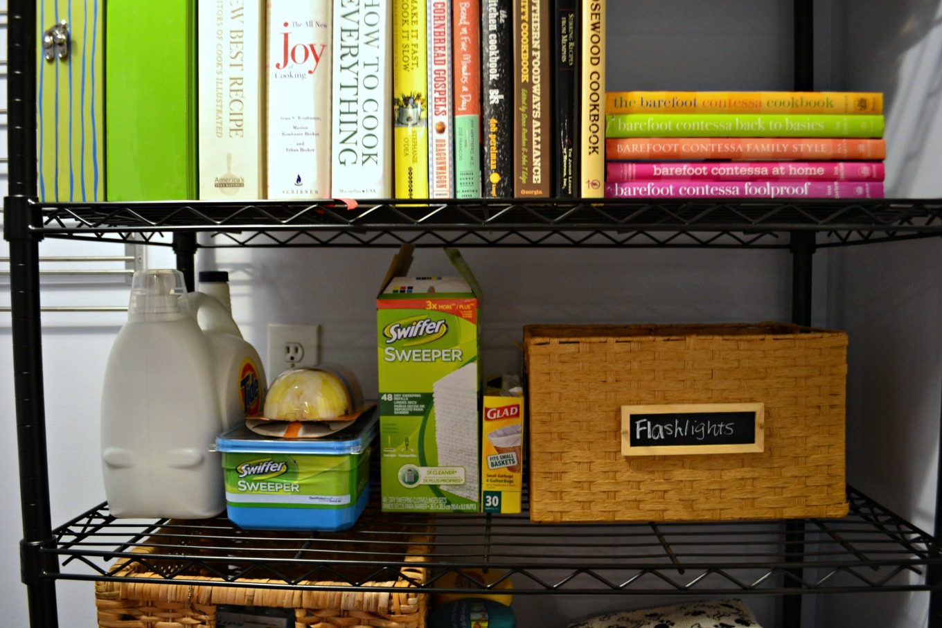 Storage and organization in laundry room reveal - thediybungalow.com