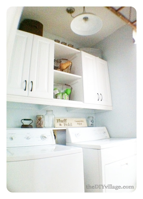 The DIY Village Laundry Room - shelving and cabinets