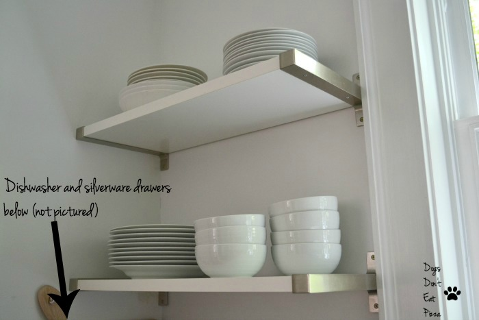 Put dishes and silverware by dishwasher for an organized and efficient kitchen - thediybungalow.com