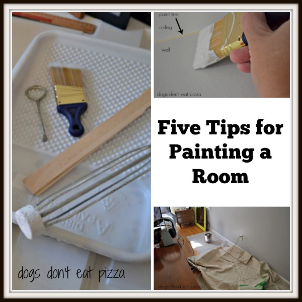 Five tips for painting a room - thediybungalow.com