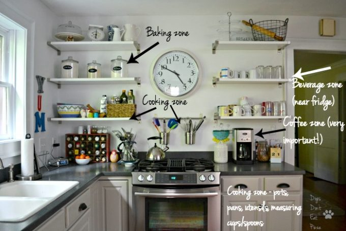 My renovated kitchen is organized and efficient because I created zones - thediybungalow.com