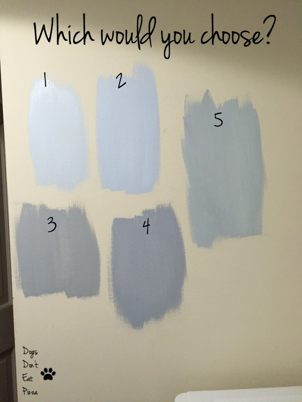 laundry room paint choices - how to choose a paint color - Dogs Don't Eat Pizza