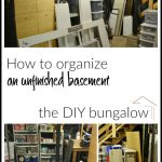 How to Organize an Unfinished Basement