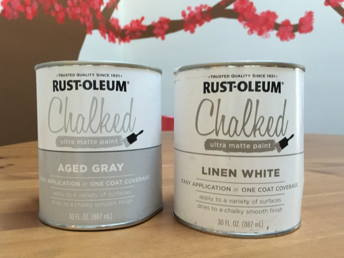 Rust-Oleum Chalked Paint - Aged Gray and Linen White - farmhouse style herb garden - Dogs Don't Eat Pizza