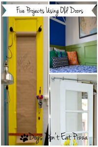 If you have an old door, I've got a project. Five projects repurposing old doors - from thediybungalow.com
