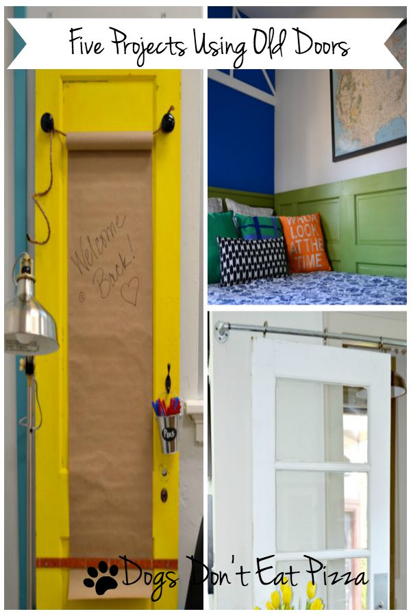 If you have an old door, I've got a project. Five projects using old doors - from thediybungalow.com