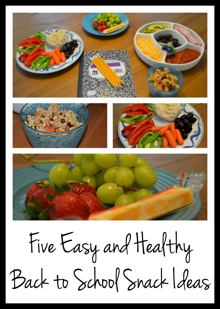 Five easy and healthy back to school snack ideas from thediybungalow.com