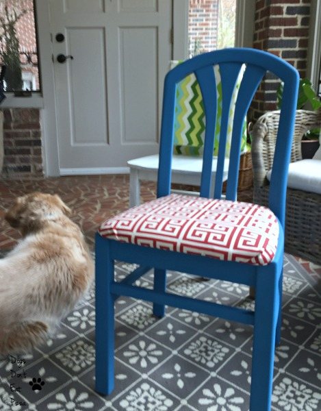 finished chair - how to breathe new life into old chairs - Dogs Don't Eat Pizza