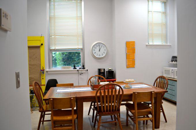 The teachers' lounge renovation big reveal - thediybungalow.com