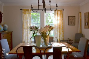 See how I turned a more formal dining room into a farmhouse industrial dining room that I love! thediybungalow.com