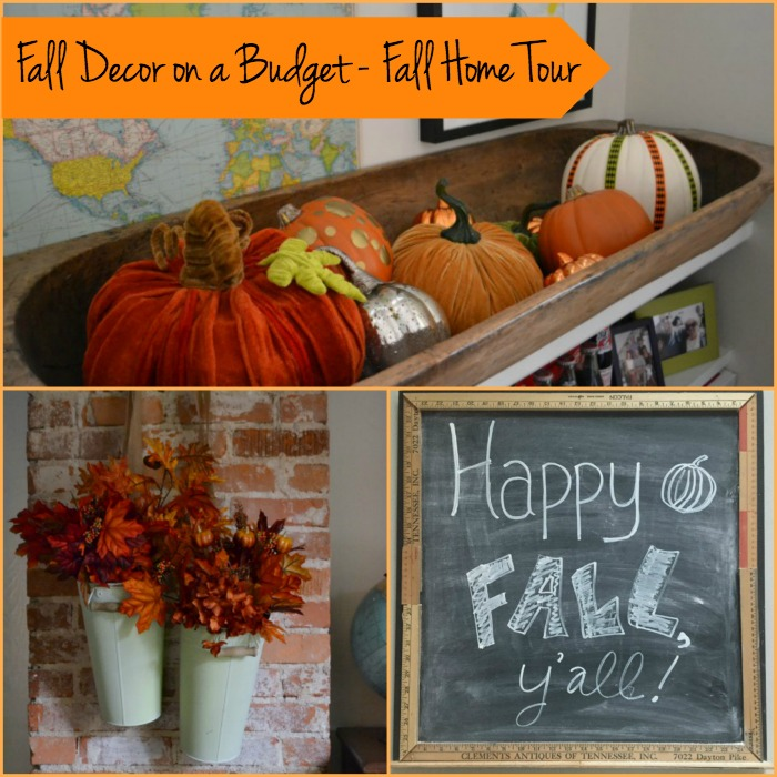 Decorating for fall in your home can be easy and done on a budget - thediybungalow.com
