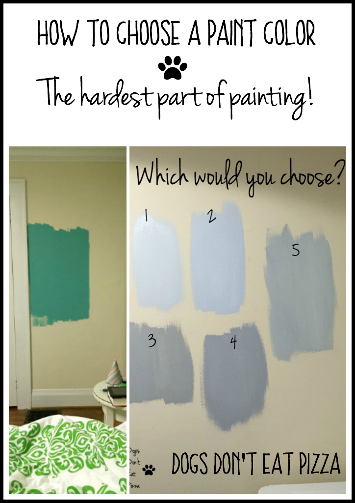 How to Choose a Paint Color - The hardest part of painting! - from thediybungalow.com