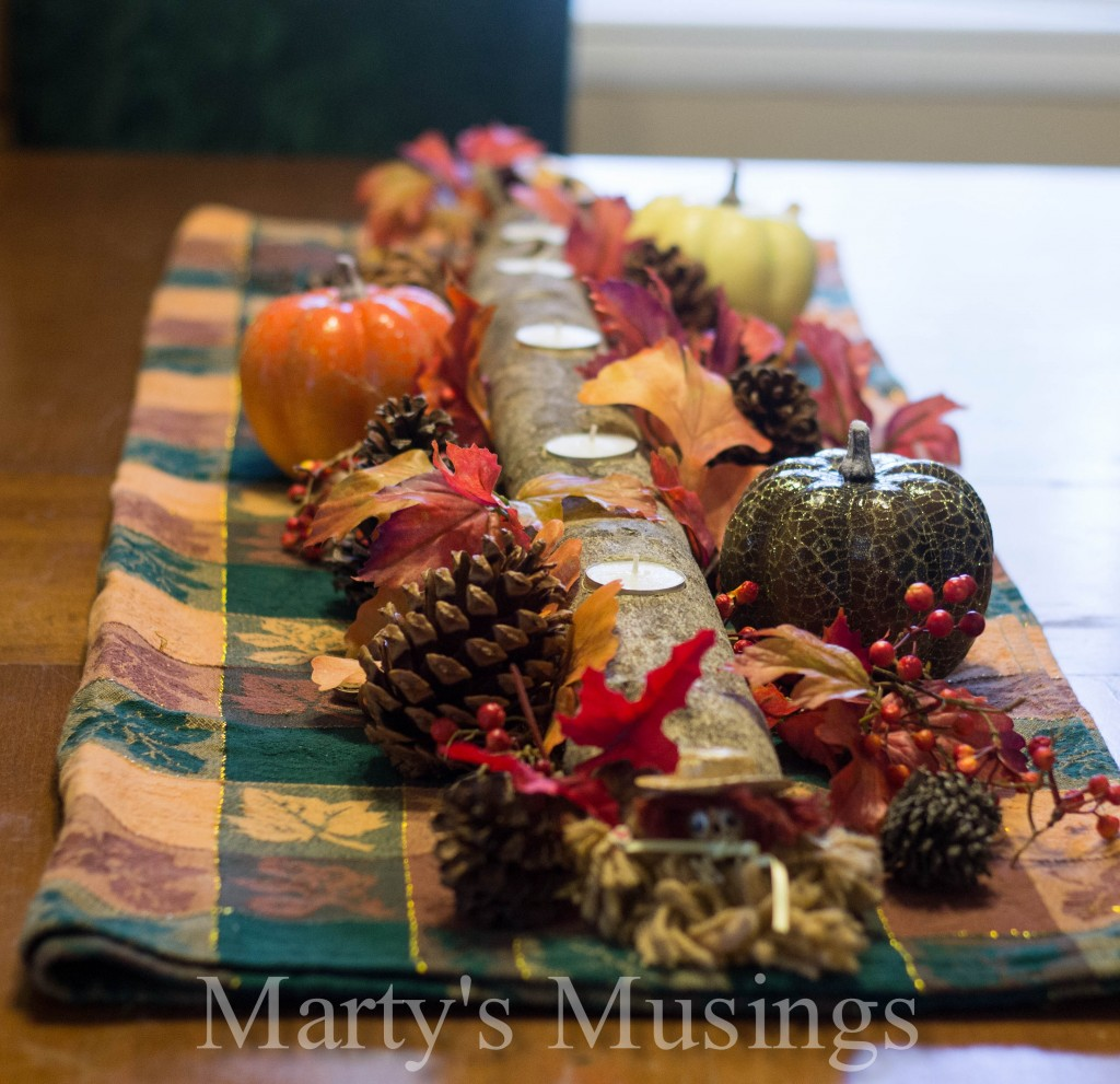 Marty's Musings Branch-Candle-Centerpiece - all things fall - Dogs Don't Eat Pizza