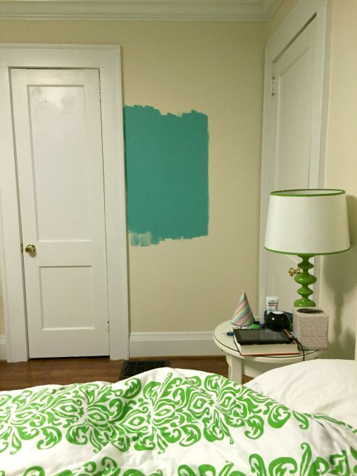 Winning paint color for M's room - how to choose a paint color - Dogs Don't Eat Pizza