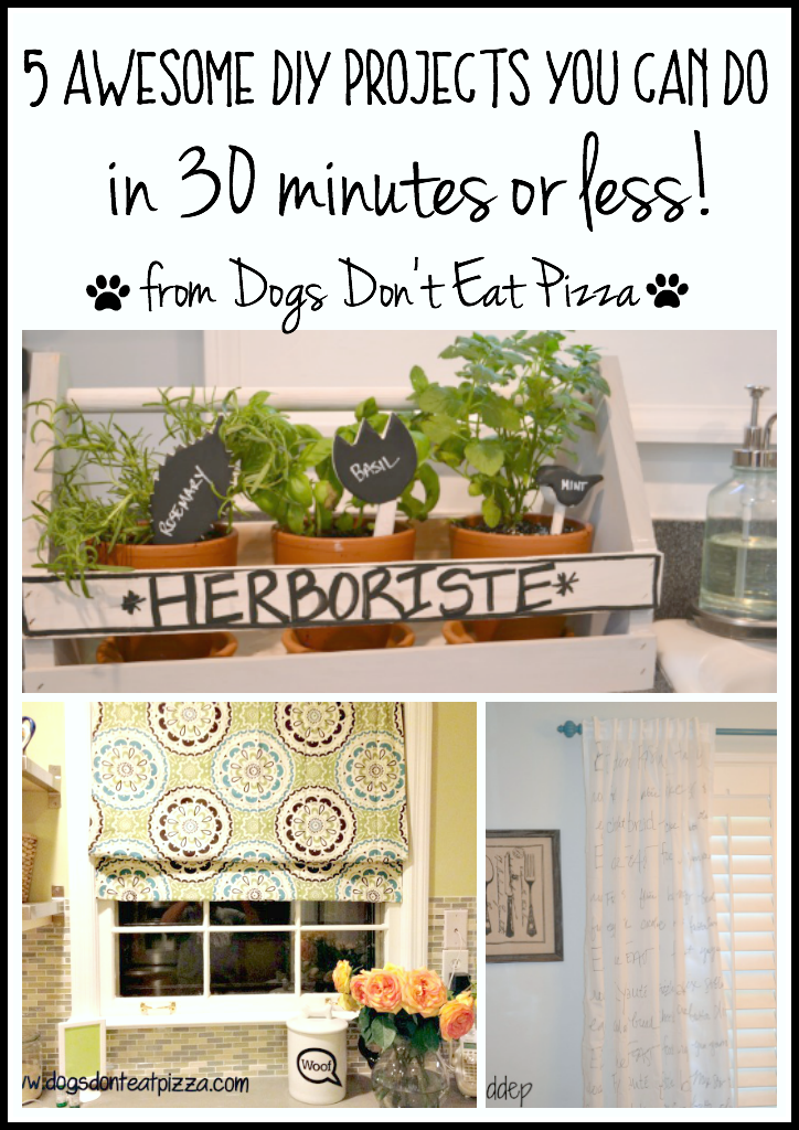 Five awesome DIY projects you can do in 30 minutes or less - thediybungalow.com