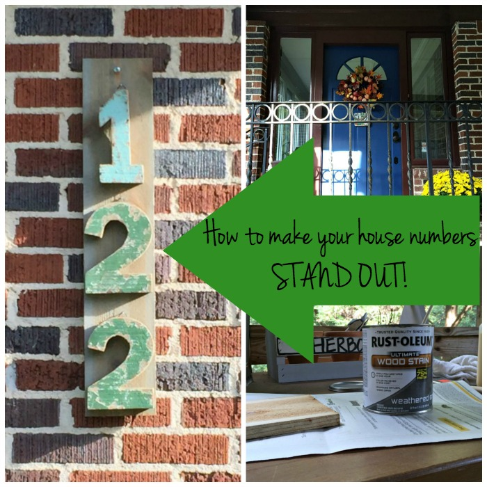 How to make your house numbers stand out / DIY project by thediybungalow.com