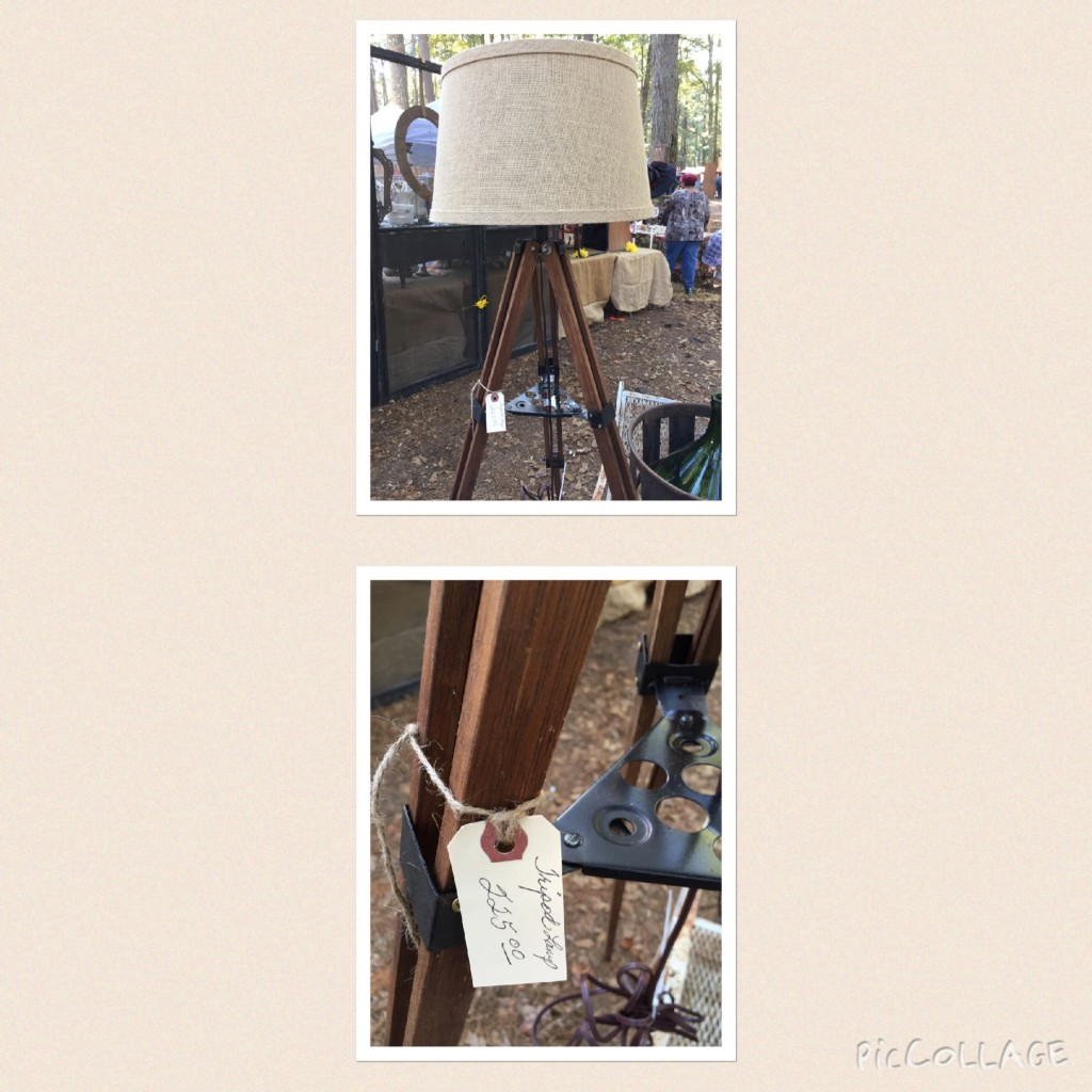 $225 Tripod Lamp at the Country Living Fair