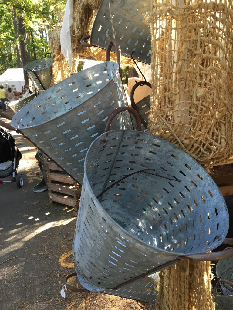Olive baskets at the Country Living Fair