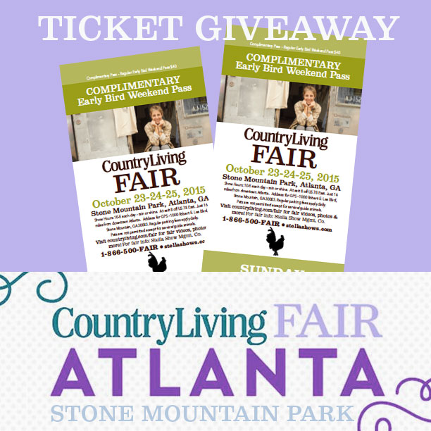 Ticket giveaway to the Country Living Fair in Atlanta / thediybungalow.com
