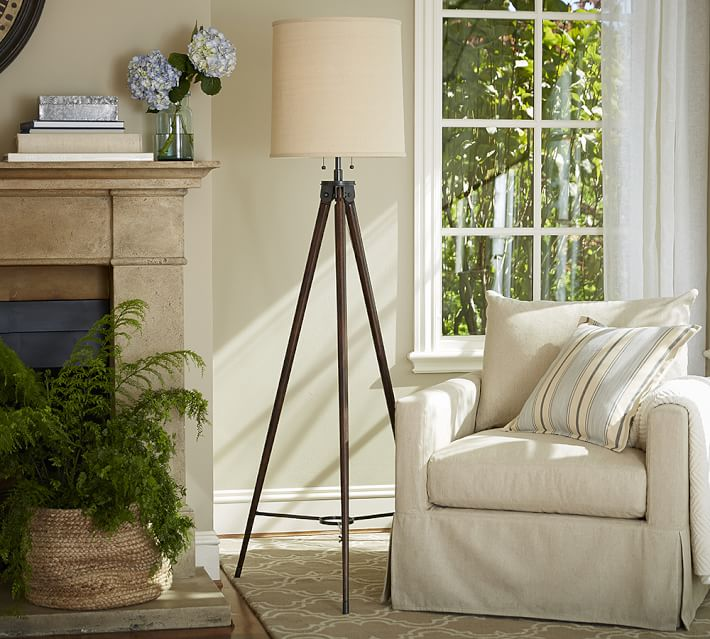 Pottery Barn tripod floor lamp