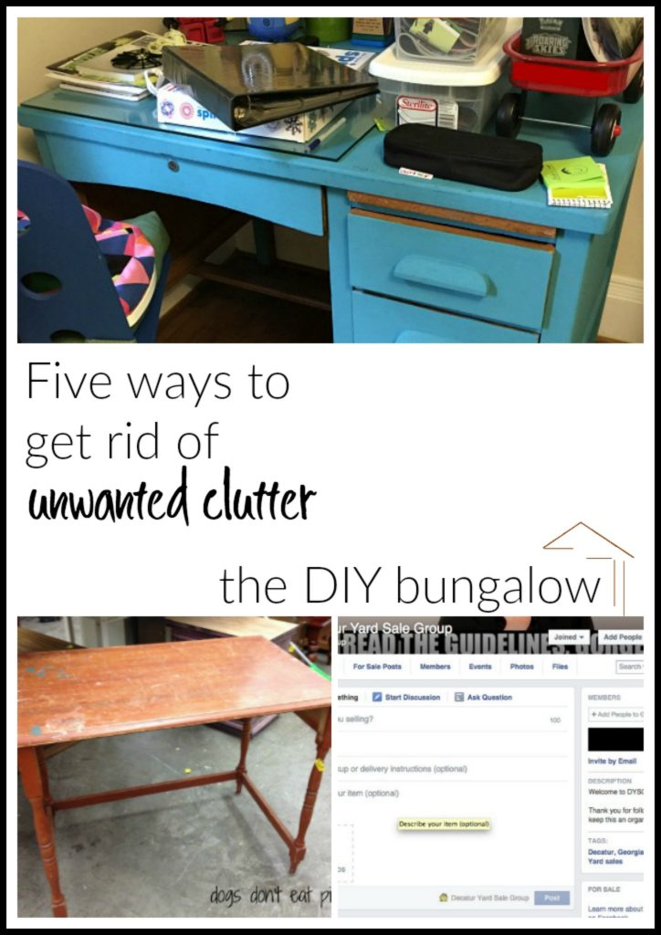 Five ways to get rid of unwanted clutter - thediybungalow.com