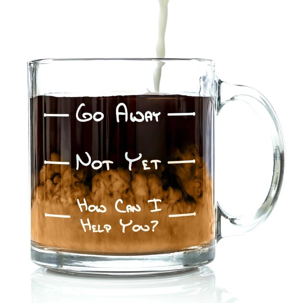 Go Away Coffee Mug - My Favorite Things - thediybungalow.com