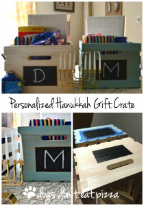 DIY Personalized Hanukkah Gift Crate by thediybungalow.com