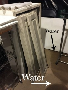 Water in the basement - tidying up the basement - thediybungalow.com