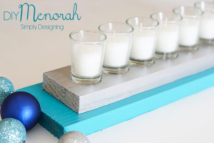 DIY Hanukkah Menorah from Simply Designing - thediybungalow.com