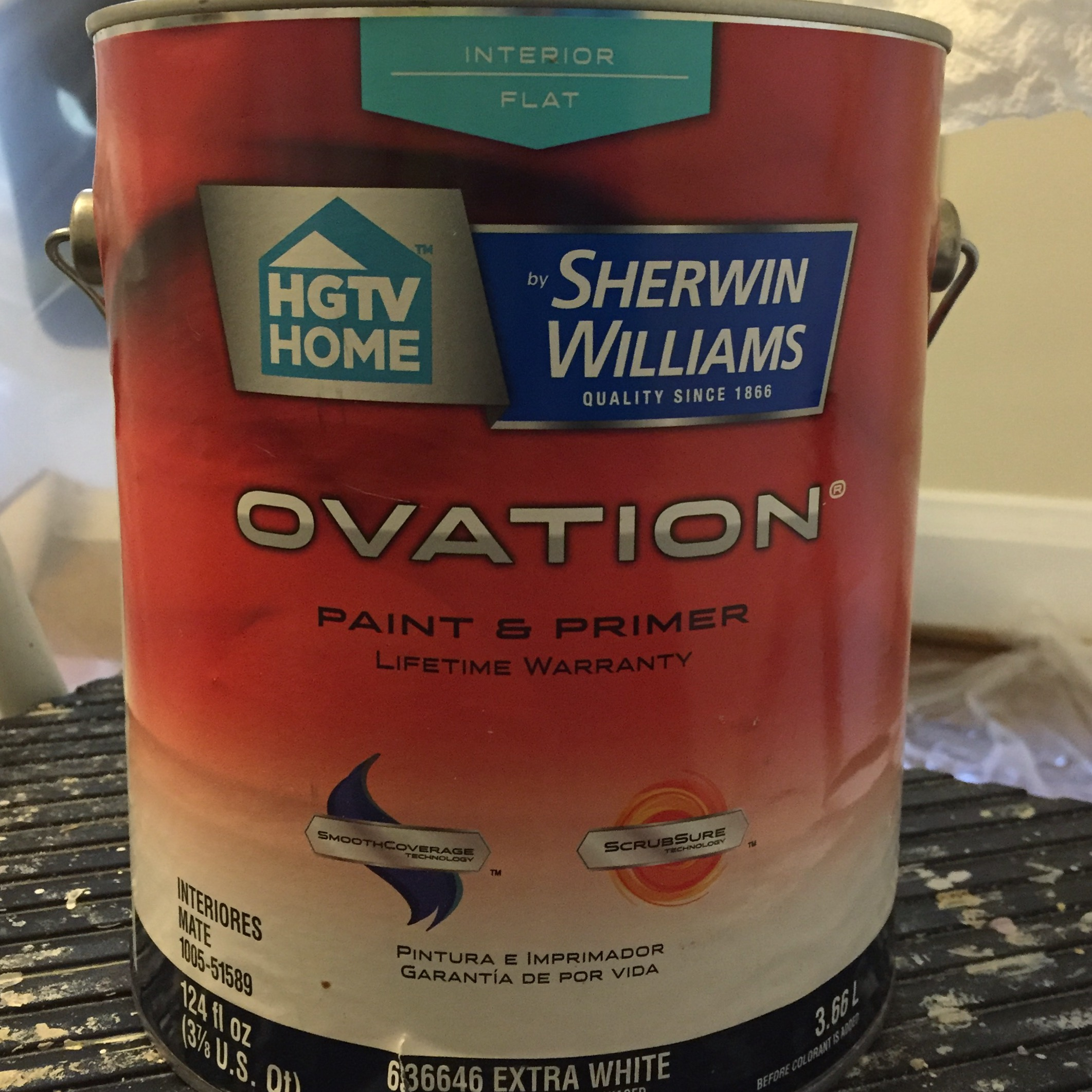 HGTV Home by Sherwin Williams Ovation paint in Cooled Blue - thediybungalow.com