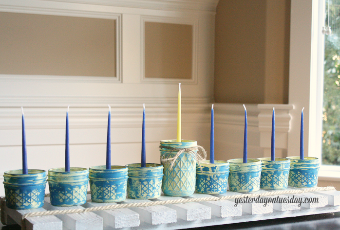 DIY Menorah Projects - Yesterday on Tuesday - thediybungalow.com