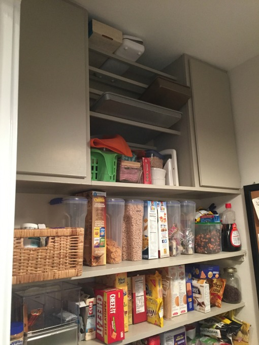 Weird cabinets and shelves in pantry - thediybungalow.com