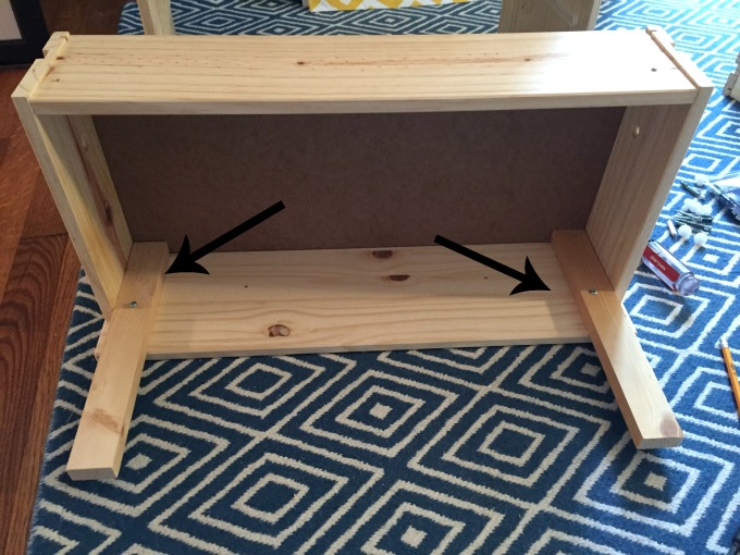 Add supports for the second drawer - IKEA Rast Hack - thediybungalow.com