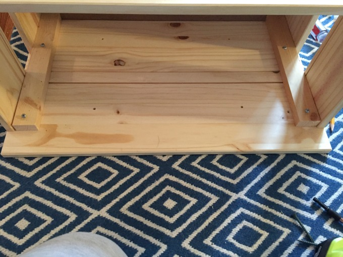 Attach middle drawer to support - IKEA Rast Hack - thediybungalow.com