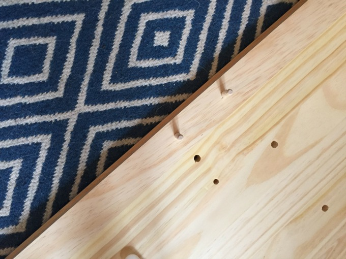 Dowels for support - IKEA Rast Hack - thediybungalow.com