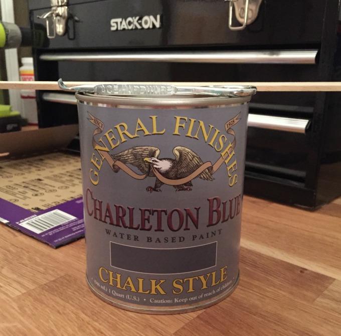 General Finishes Charleton Blue - chalk style paint - thediybungalow.com