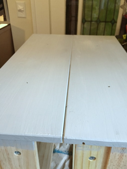 Primer tinted to lighter shade of paint - IKEA Rast Hack - thediybungalow.com