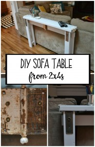 DIY Sofa Table from 2x4s - thediybungalow.com