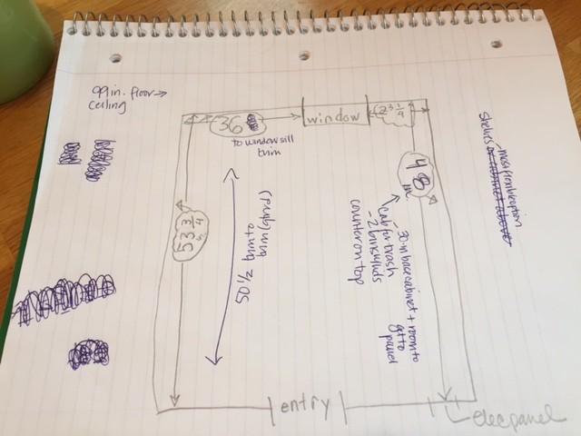 Measurements for pantry renovation - thediybungalow.com