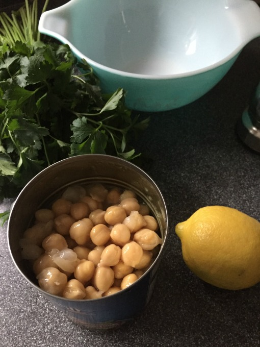 Ingredients for Lemony Chickpea Salad - thediybungalow.com
