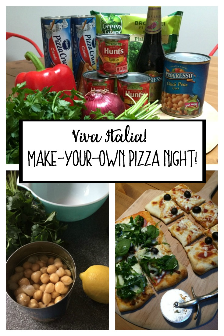 Host a make-your-own pizza night! It's easy and fun! From thediybungalow.com