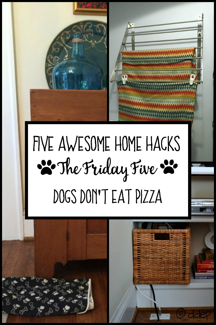five awesome home hacks graphic - thediybungalow.com