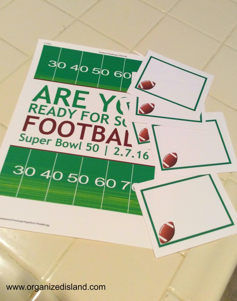 football-party-printables-free - party ideas for the big game - thediybungalow.com