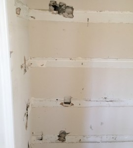 The pantry demo was moving along until I found mold...and I don't mean on the bread. See what happened - thediybungalow.com