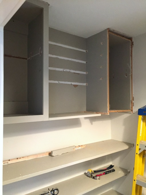 pantry demolition progress - thediybungalow.com