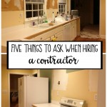 Five Questions to Ask When Hiring a Contractor (Friday Five)
