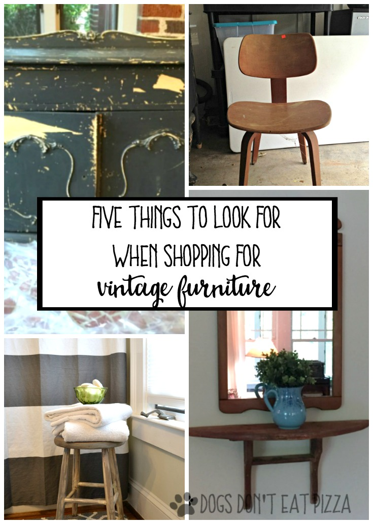 Five things to look for when shopping for vintage furniture - thediybungalow.com
