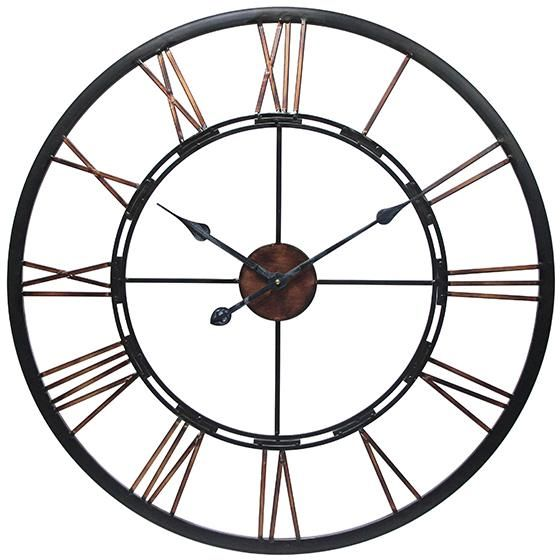 Home Decorators Collection Metal Industrial Clock - farmhouse look for less - thediybungalow.com