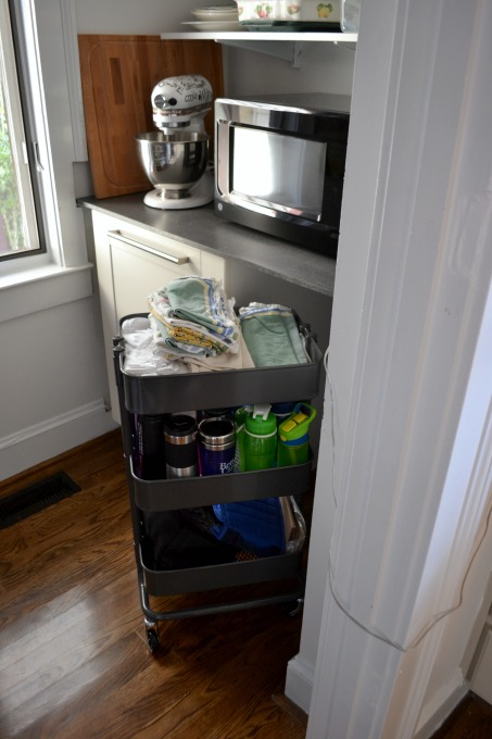 IKEA cart for pantry storage - thediybungalow.com