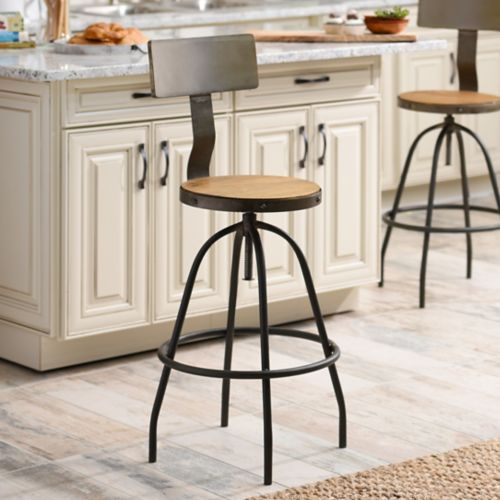 Kirkland's Industrial Stool - farmhouse look for less - thediybungalow.com